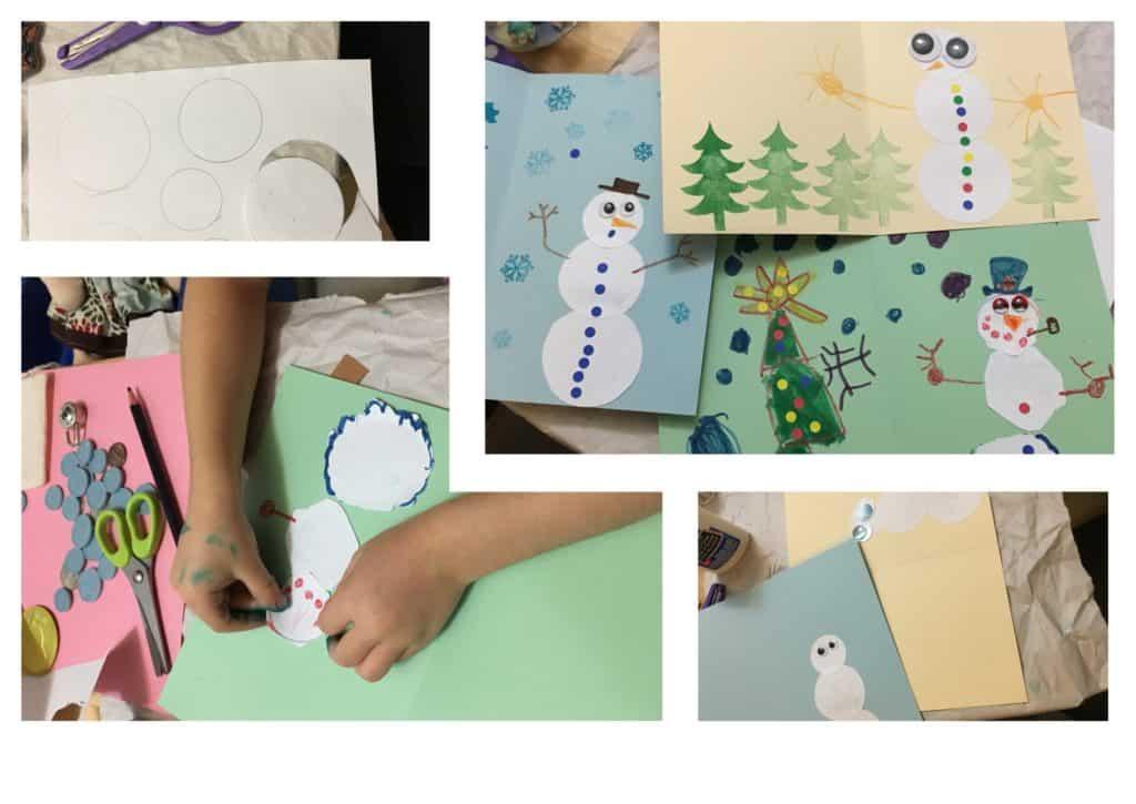DIY Snowman Card All