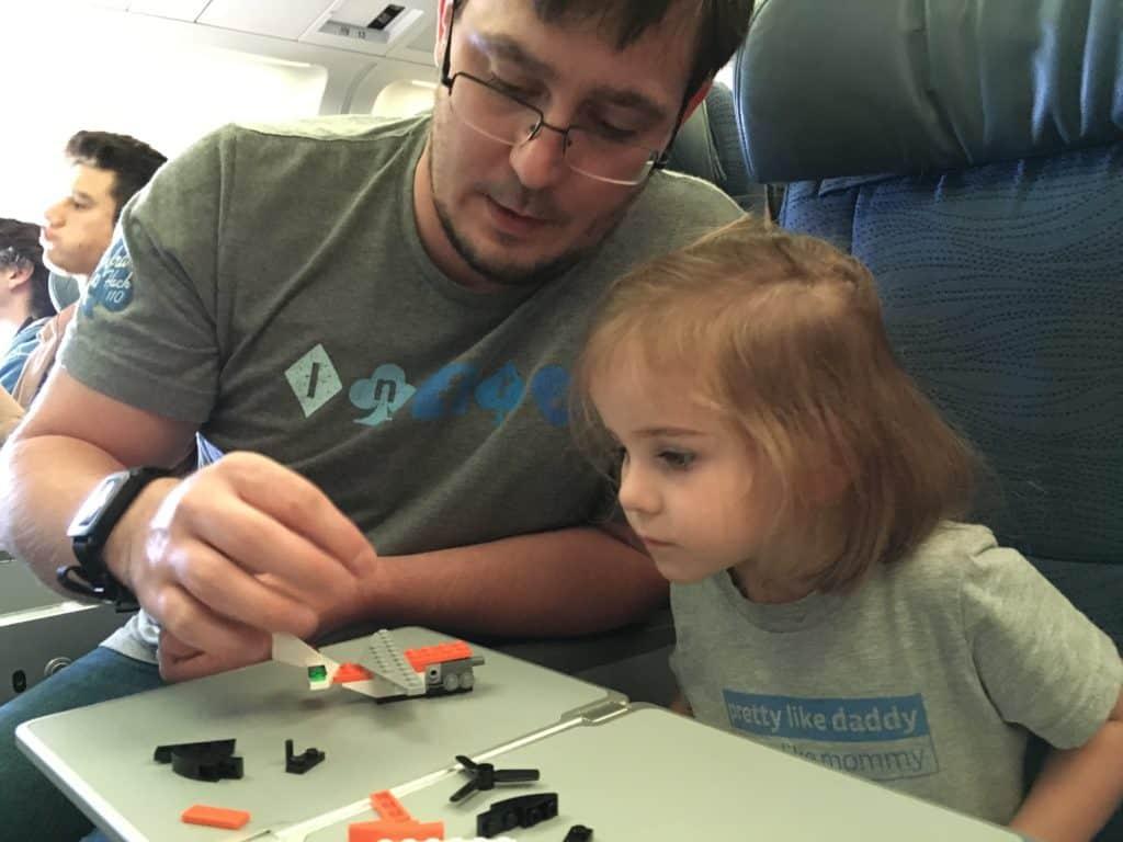 legos on the plane
