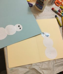 DIY snowman card steps