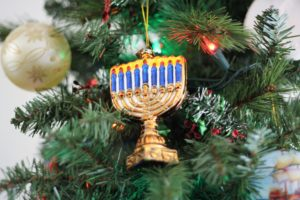 Menorah tree ornament