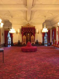 Throne room in iolani palace in Honolulu