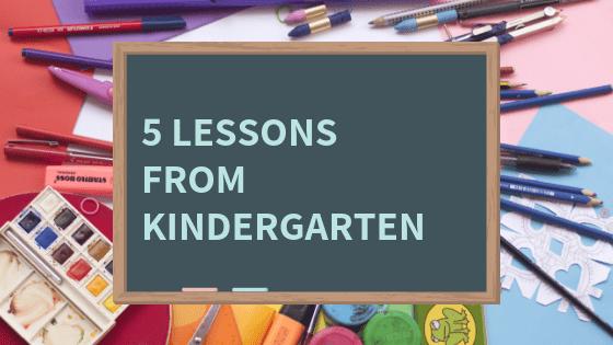 lessons for kindergarten parents