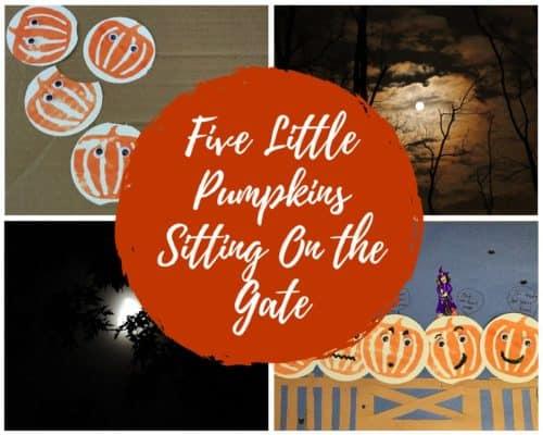 Five Little Pumpkins Halloween Craft