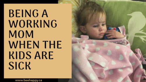 Being a working mom when the kids are sick