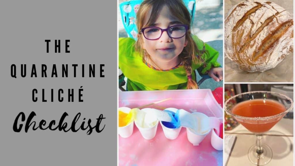 The quarantine cliché checklist blog post